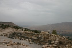 View of lake Galilee from Umm Qais