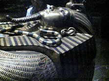 One of Tutankhamun�s gold sarcophagus