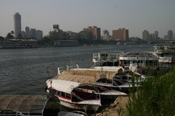 The Nile running through Cairo