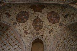The ceiling of Ali Qapu Palace