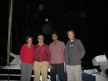 The sailing team - Maz, Humayun, Khalid & Alex