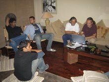 Imad, Khalid, Siggy, Doc & Alex relaxing after the fairwell party