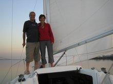 Maz & Alex out for a sail