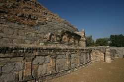 Remains of a Buddhists stupa at Taxila
