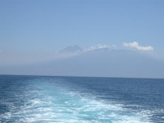 Mount Rinjani from the Sumbawa ferry