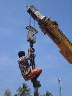 Monkey on a crane