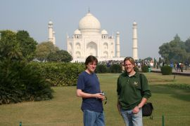 Richard and me, Taj Mahal, India