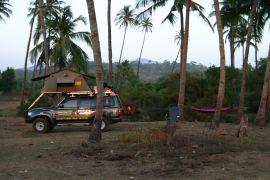 My campsite, Goa, India