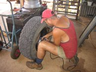 Our tyre gets repaired